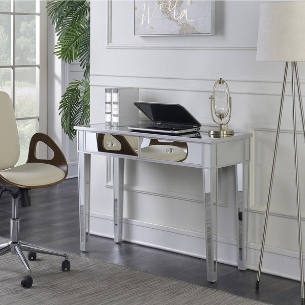Silver Orchid Talmadge Mirrored Desk Vanity