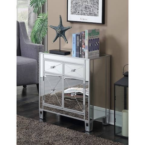 Silver Orchid Talmadge 2-drawer Mirrored Hall Table