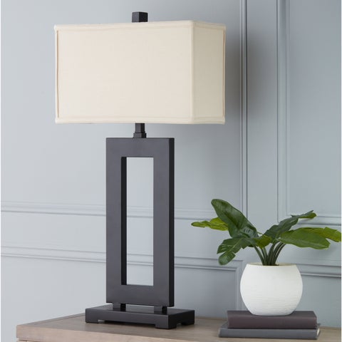 Clay Alder Home Mocha Metal Table Lamp with Cream Shade