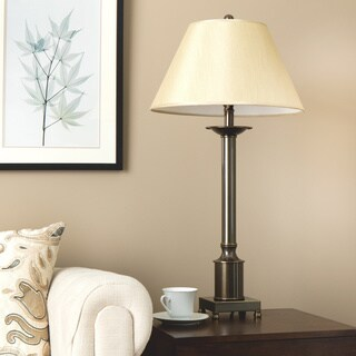 Copper Grove Antique Bronze-finished Metal Traditional Column Table Lamp