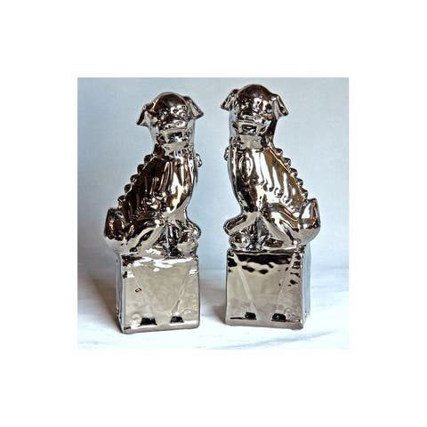 Handmade Sitting Foo Dog Figurine