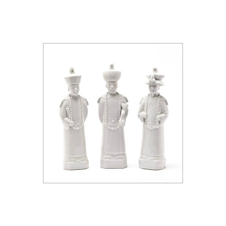 Qing Emperors 3 Piece Figurine Set