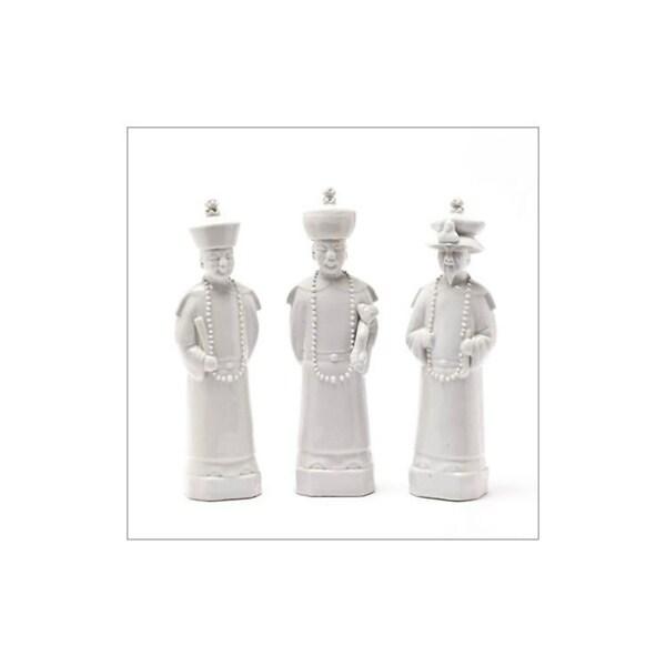 Handmade Qing Emperors Figurine, Set of 3
