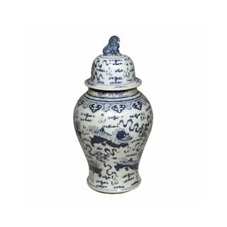 Handmade Foo Dog Temple Jar
