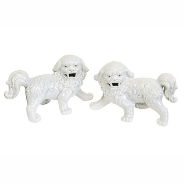 Handmade Large Walking Foo Dog Figurine