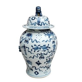 Handmade Antique Symbol Temple Jar