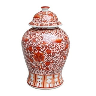 Twisted Lotus Temple Decorative Jar