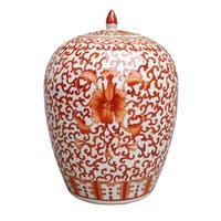 Twisted Lotus Ginger Decorative Jar