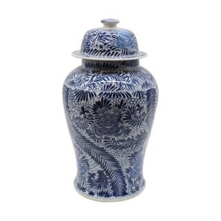 Handmade Blooming Flowers Temple Jar