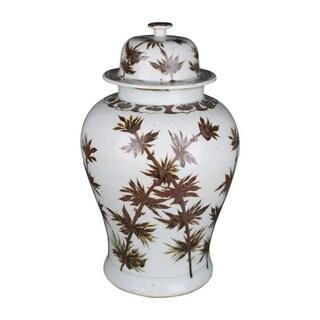 Handmade Dynasty Bamboo Temple Jar