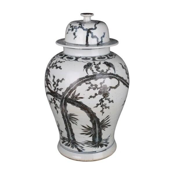 Handmade Dynasty Magpie Plum Blossom Temple Jar