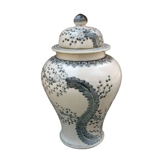 Handmade Hong Wu Plum Blossom Motif Temple Jar