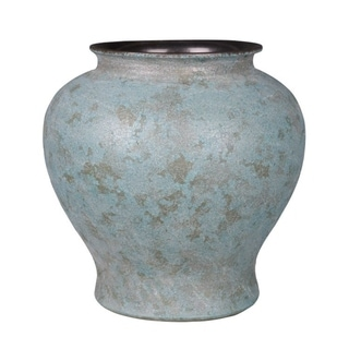 Handmade Crackle Storage Jar