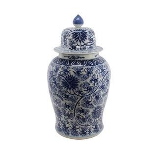 Peacock Lotus Temple Decorative Jar
