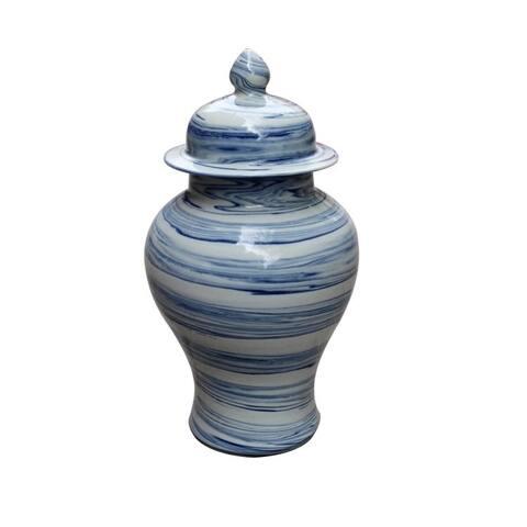 Marblized Small Temple Decorative Jar