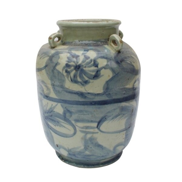 Handmade Silla Four Loop Handle Twisted Flower Jar