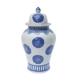 Handmade Multi Flowers Temple Jar