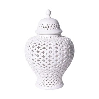 Handmade Lattice Ginger Jar with Lid
