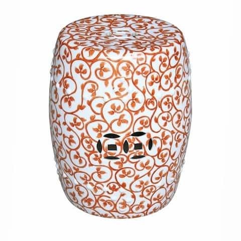 Handmade Rivia Porcelain Garden Stool