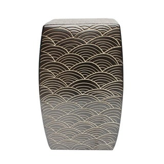 Seawave Square Garden Stool