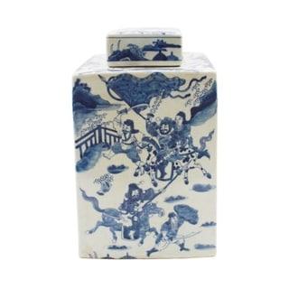 Handmade Warrior Square Tea Jar