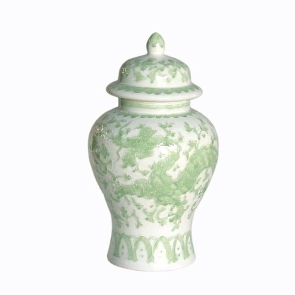 Handmade Dragon Lotus Temple Jar