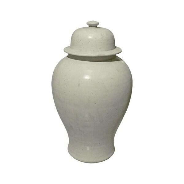 Handmade Matte Glaze Temple Jar