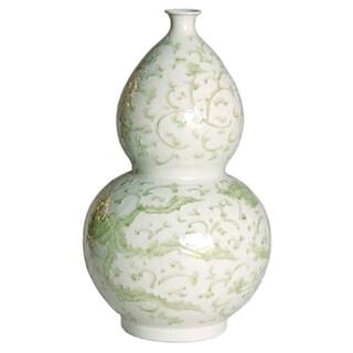 Handmade Dragon Lotus Gourd Vase