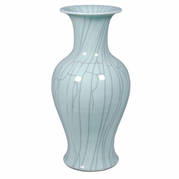 Handmade Crackle Fish Tail Vase