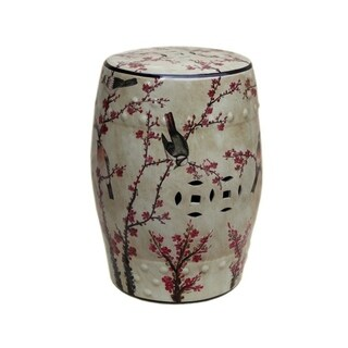 Handmade Magpie Porcelain Table or Stool