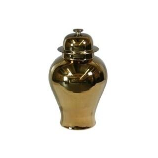 Handmade Metallic Temple Jar