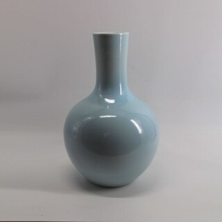 Handmade Globular Icy Vase