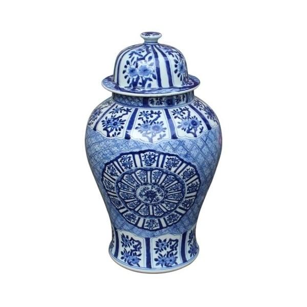 Handmade Medallion Plum Blossom Temple Jar