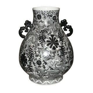 Dragon Deer Head Floor Vase