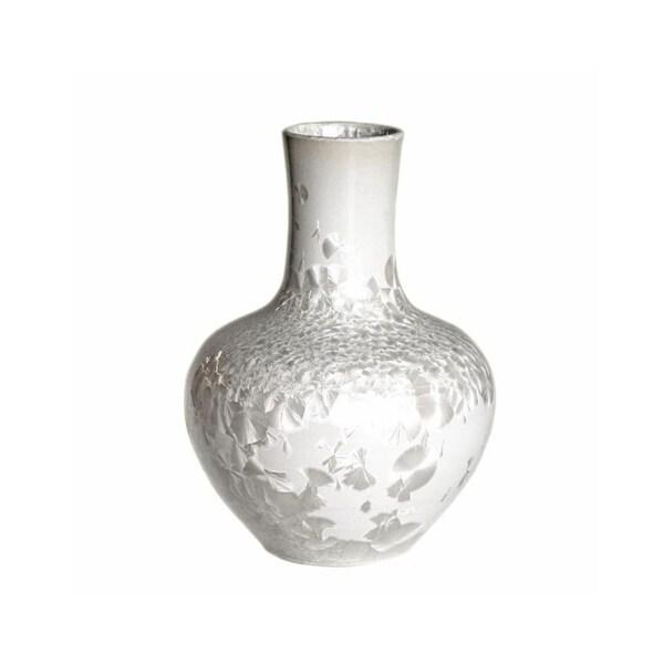 Handmade Crystal Shell Globular Vase
