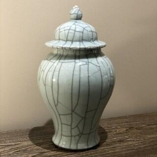Handmade Crackle Temple Jar