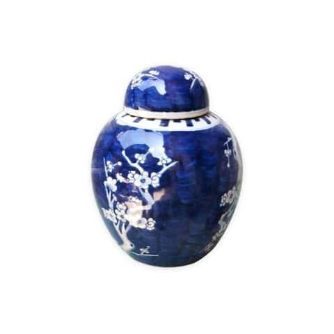 Plum Lidded Decorative Jar