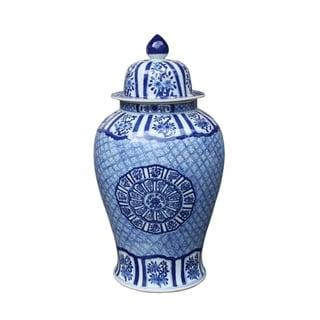 Medallion Plum Blossom Extra Large Temple Decorative Jar