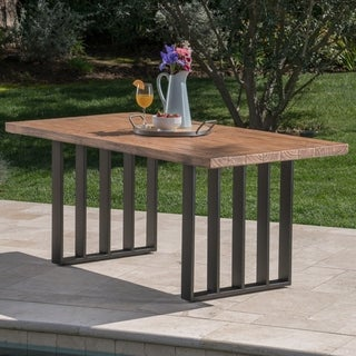 Kantor Outdoor Rectangle Light-Weight Concrete Dining Table by Christopher Knight Home