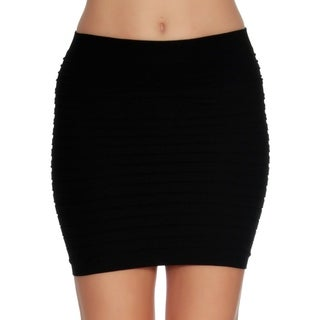 Women's Seamless Sexy Slim Slip On Mini Pencil Tube Skirt Stretch