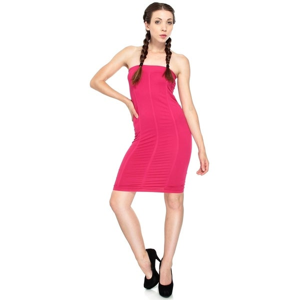 29a8df38252cd Shop Sexy Fuchsia Dress in a Seamless and Strapless Design, Fuchsia - Free  Shipping On Orders Over $45 - Overstock - 20646922