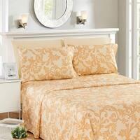 6 Piece Kendall Printed Deep Pocket Ultra Soft 1800 Series Bed Sheet Set