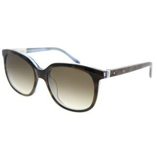 Bobbi Brown Square The Joanna EC8 CC Unisex Tortoise Apphir Frame Brown Gradient Lens Sunglasses
