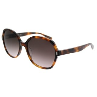 Bobbi Brown Square The Collin WR9 Women Brown Havana Frame Brown Gradient Lens Sunglasses