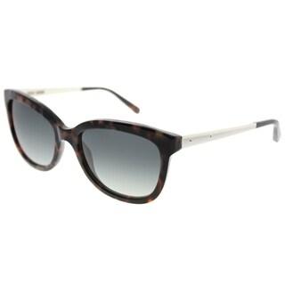 Bobbi Brown Rectangle The Stella M67 Unisex Olive Havana Frame Grey Gradient Lens Sunglasses