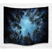 Forest Starry Hippie Milky Way Tapestry for Bedroom Dorm Decor