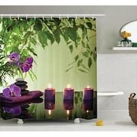 Spa Decor Curtain Set, Bathroom Accessories, 69W X 70L Inches