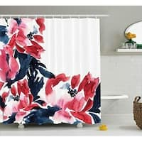 Floral Decor Shower Curtain Flower Decorations Peonies Print 70 Inches