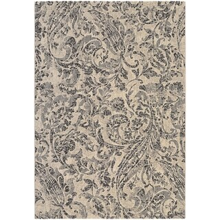 Couristan Easton Prescott/Ivory-Black-Grey Area Rug - 3'11 x 5'3 (As Is Item)
