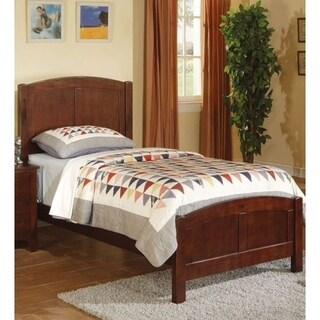 Wooden Twin Size Bed With Headboard And Footboard, Brown